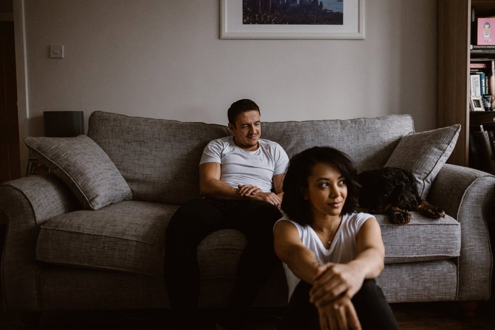 Agnes Black couple sat in front room