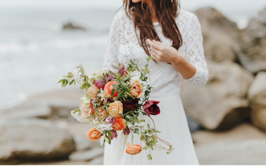 A Natural, Bohemian Luxe Cornish Coastal Elopement