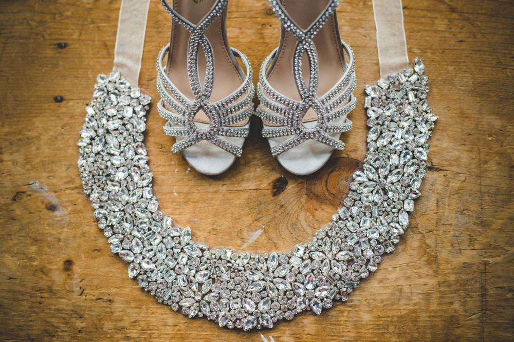 stunning necklace and shoes