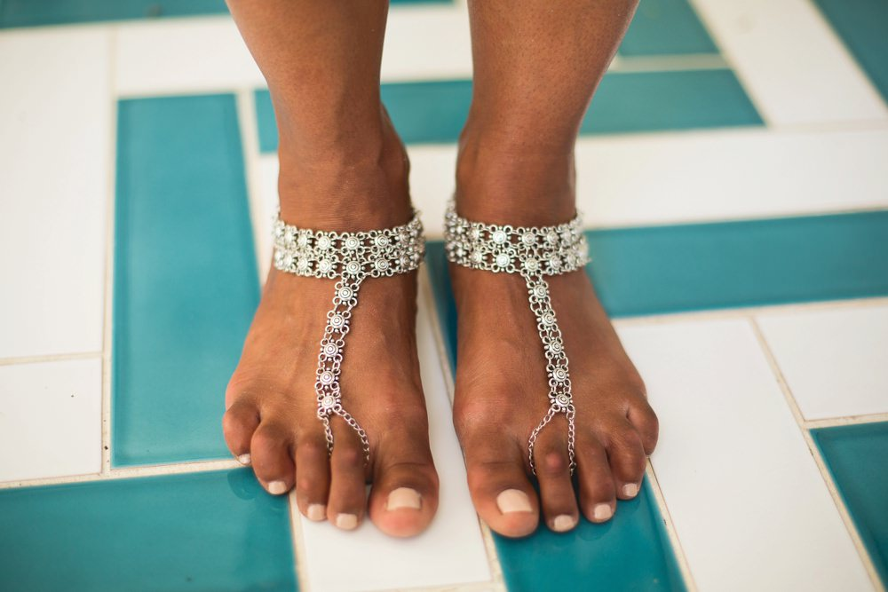 brides ankle jewellery