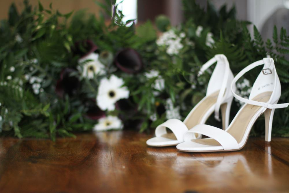 shoes and bouquets