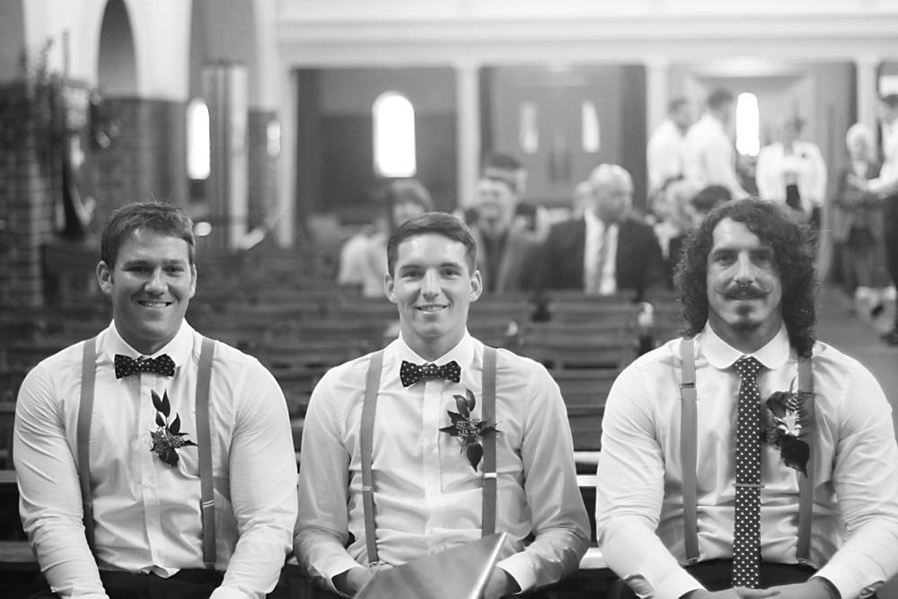 Groom at church