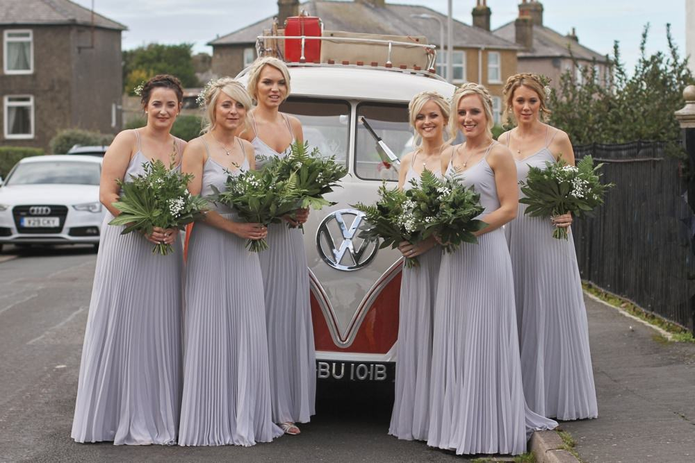 bridesmaid set off for the church