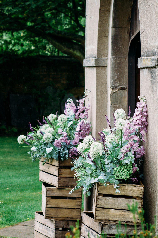 flowers at church door