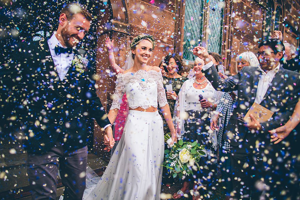 the crawleys epic wedding confetti shot