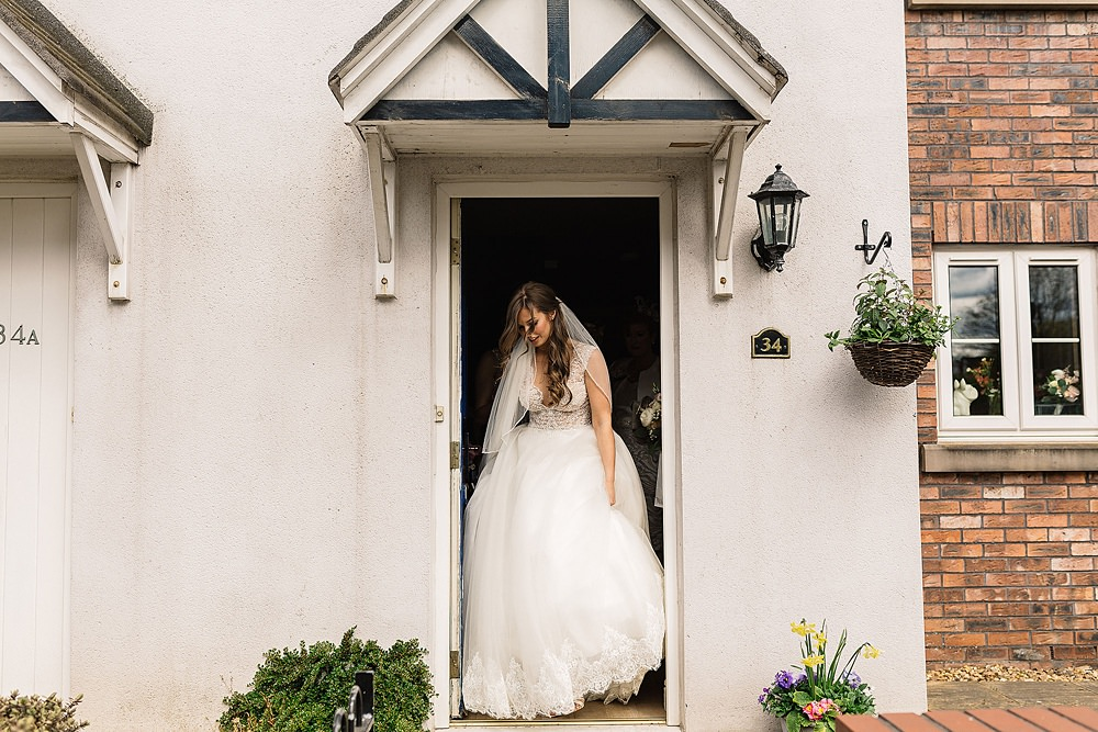 bride leaving house