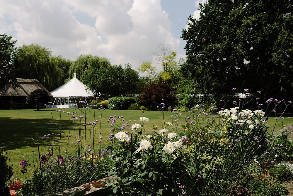 The gardens on the morning of the wedding