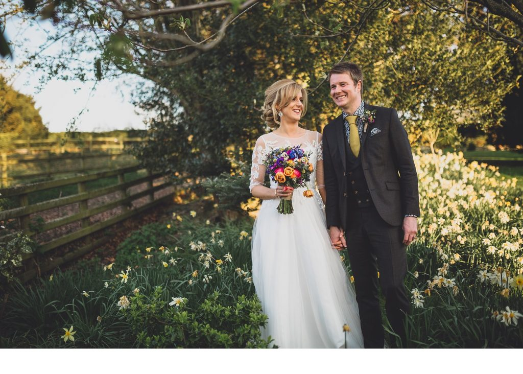 Rustic colourful wedding indie spring wedding