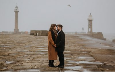Wintery Whitby Engagement Shoot by Maddie Farris Photography