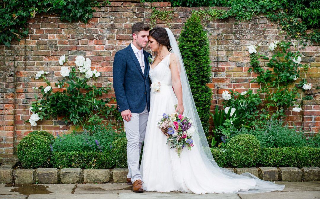 Beautiful Naomi Neoh Gown for Pretty Shustoke Barn Wedding