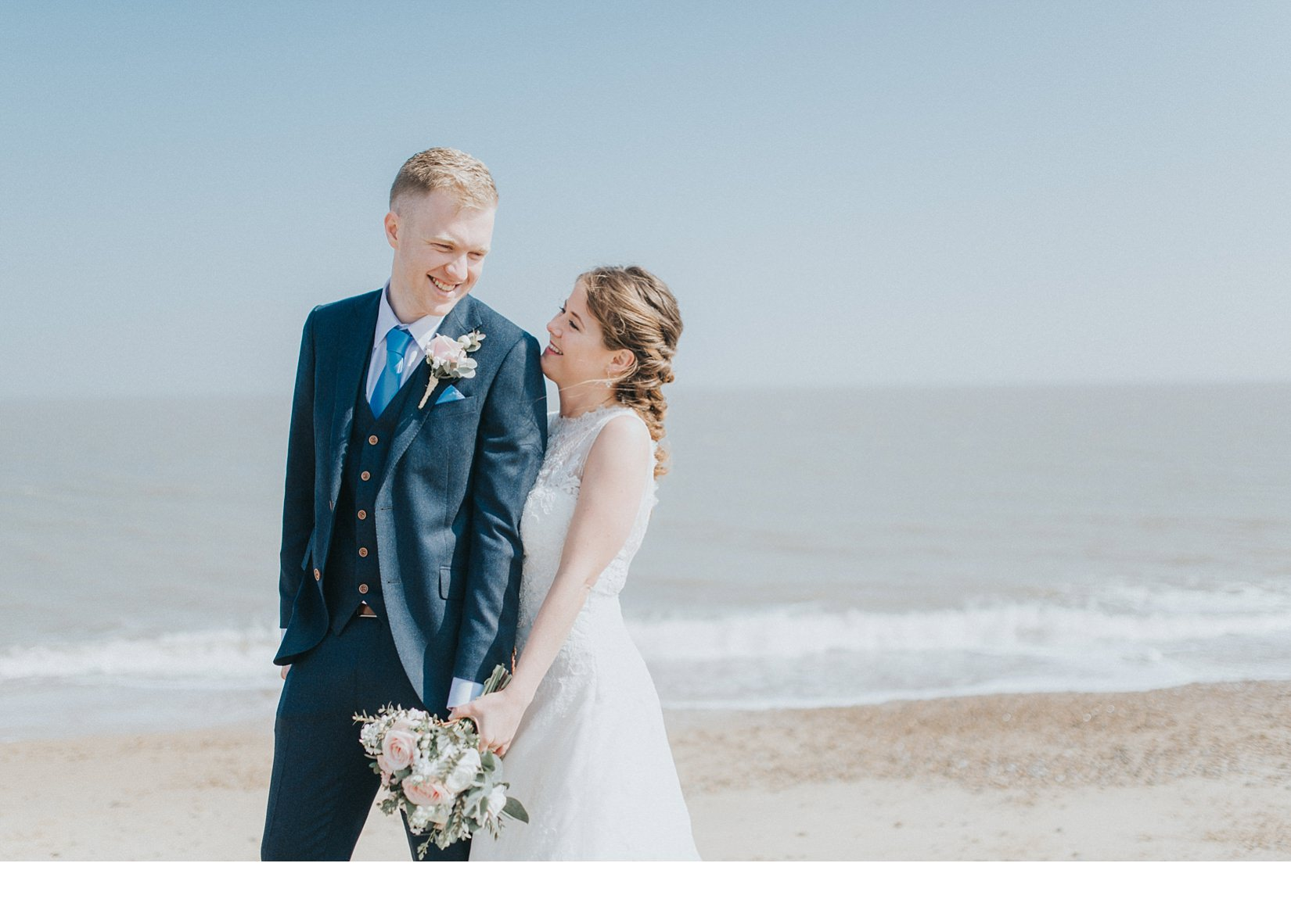 Pretty Pronovias Spring Seaside Wedding by Kate Waters Photography